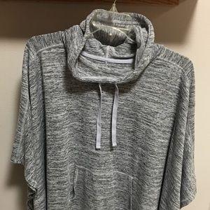 Gray Poncho Sweatshirt XXLT